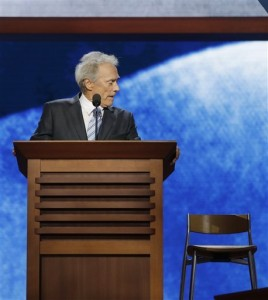 clint eastwood obama empty chair