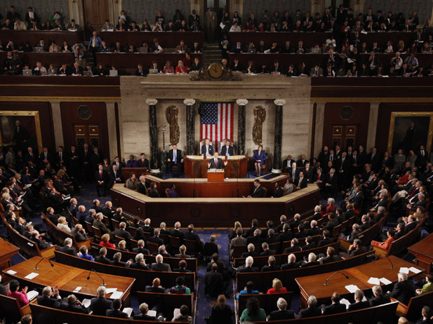 U.S. President Barack Obama delivers the State of the Union address to a joint session of Congress on Capitol Hill in Washington