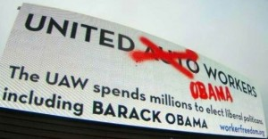 UAW Billboard Labor Unions
