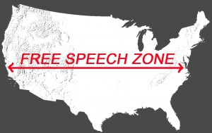 us_free speech zone_first amendment