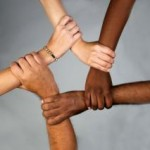racism hands united equality